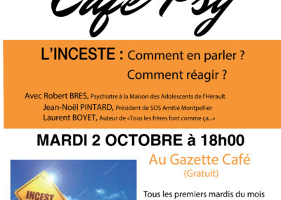 GAZETTE CAFE – L'INCESTE – 2 octobre 2018