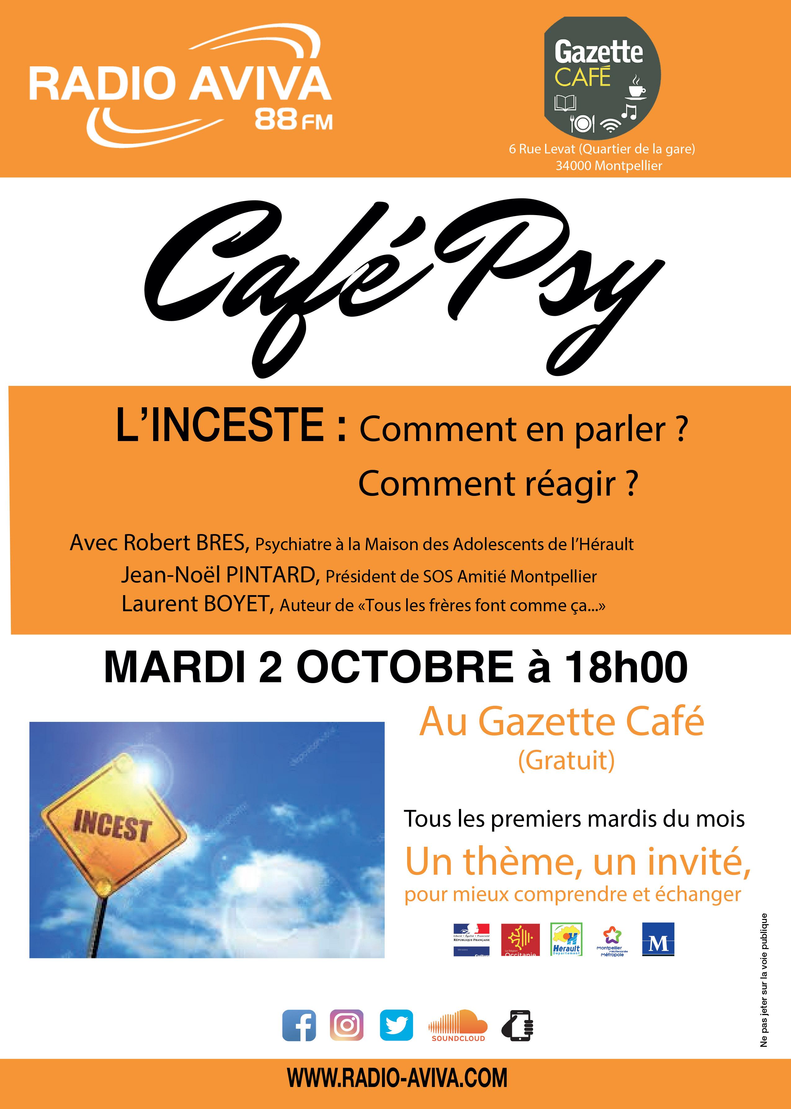 Cafe-psy - l'inceste - 2 octobre 2018