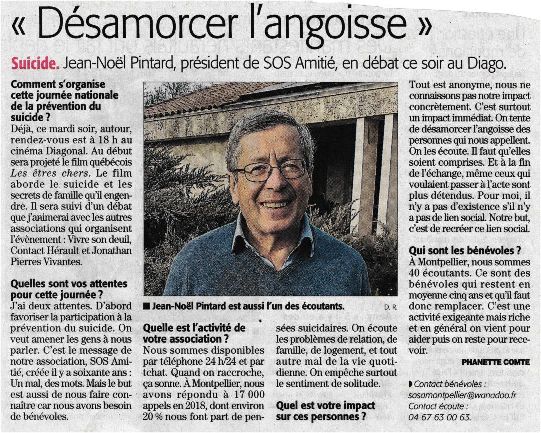 DESAMORCER L'ANGOISSE – Midi Libre 5 février 2019